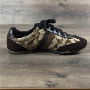 Coach Shoes - Coach Joss Brown Sneakers (Size 8.5)